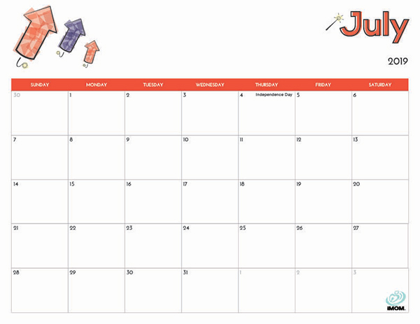 2019 Free Printable Calendar For Kids Imom