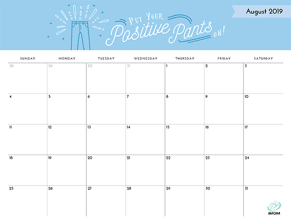 positive thoughts printable 2019 calendar