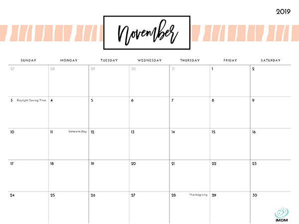image relating to Pretty Printable Calendar referred to as Extremely Layouts 2019 Printable Calendar - iMom