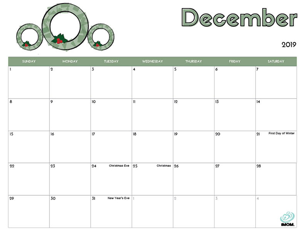 graphic regarding Preschool Calendar Printable named 2019 Totally free Printable Calendar for Children - iMom