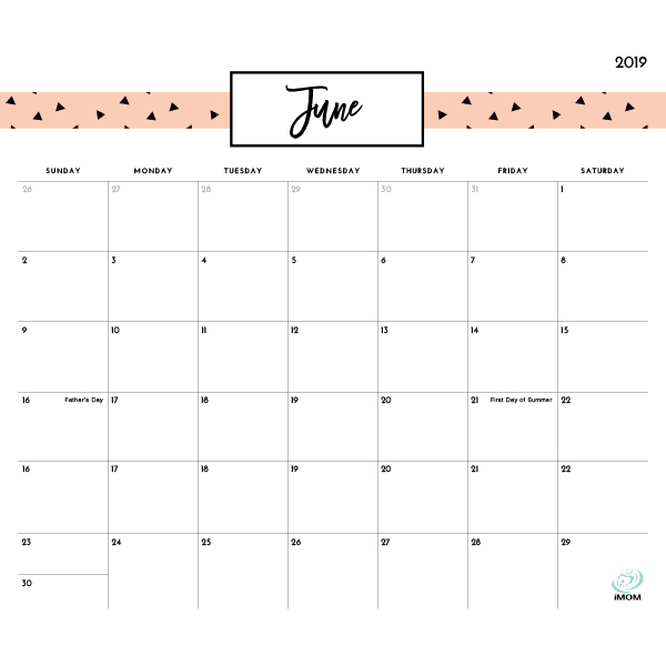 photograph about Pretty Printable Calendar titled Charming Habits 2019 Printable Calendar - iMom