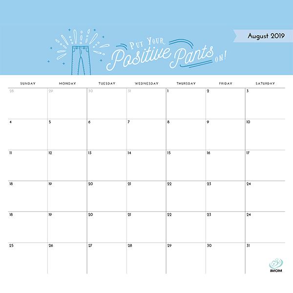 Quotes Teacher Calendar 2019 2020: Positive Thoughts Printable 2019 Calendar