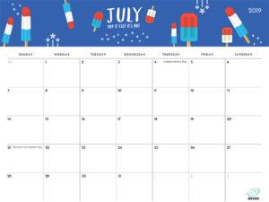 2019 Printable Calendar iMom