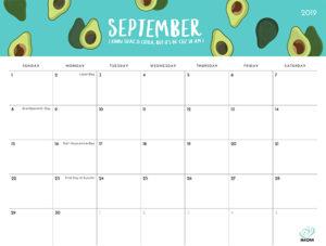 2019 Printable Calendar - iMom