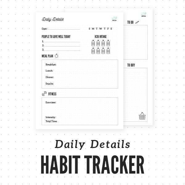 daily details habit tracker imom