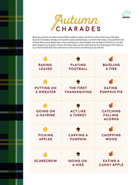 autumn charades game