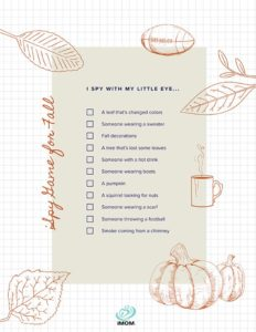 fall activities for kids I spy