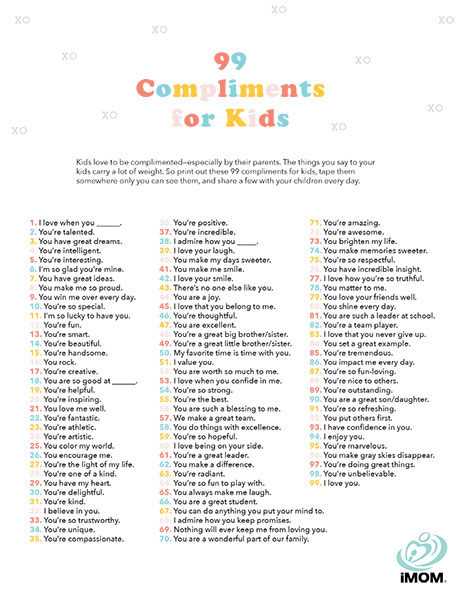 99 Compliments for Kids