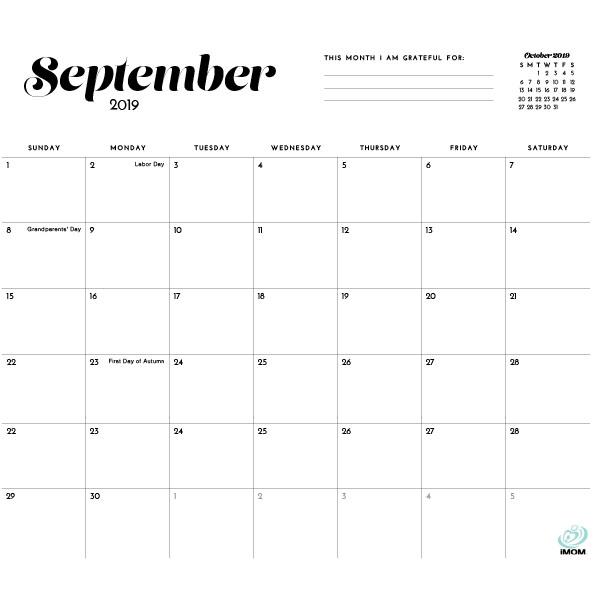 Printable Calendars - iMom