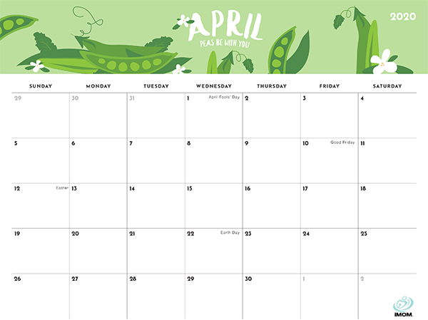 foodie printable calendar
