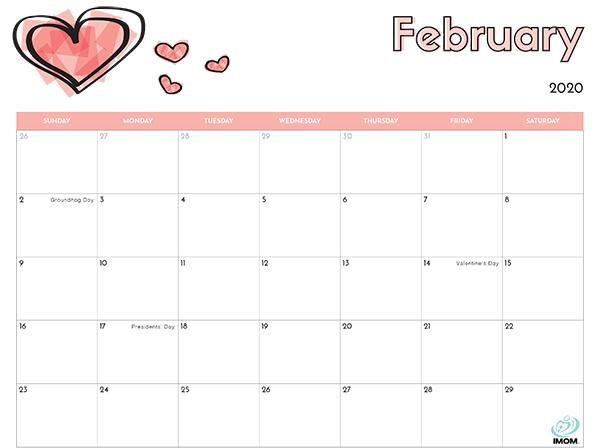 2020 printable calendar for kids
