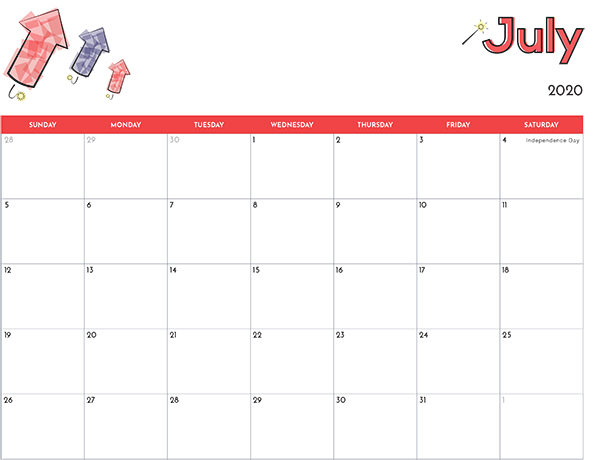 kids printable calendar