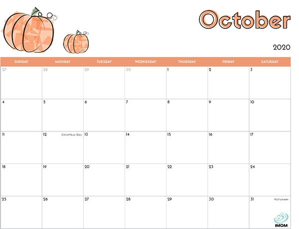 picture relating to Printable Kids Calendar named 2020 Printable Calendar for Children - iMom