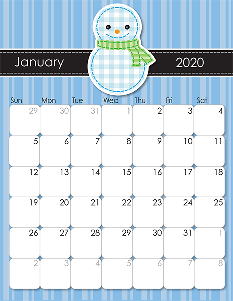 whimsical printable calendar