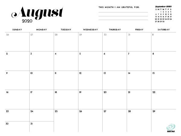 simple printable calendar