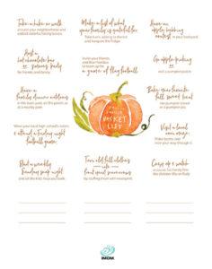 fall bucket list