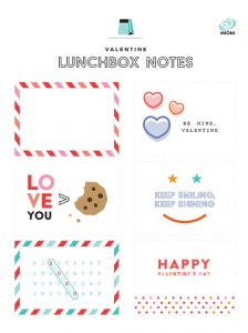 valentines day lunchbox notes