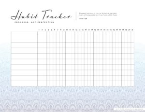 faith habit tracker for awesome moms