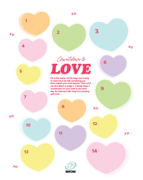 countdown to love printable