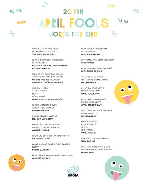April Fools Jokes for Kids