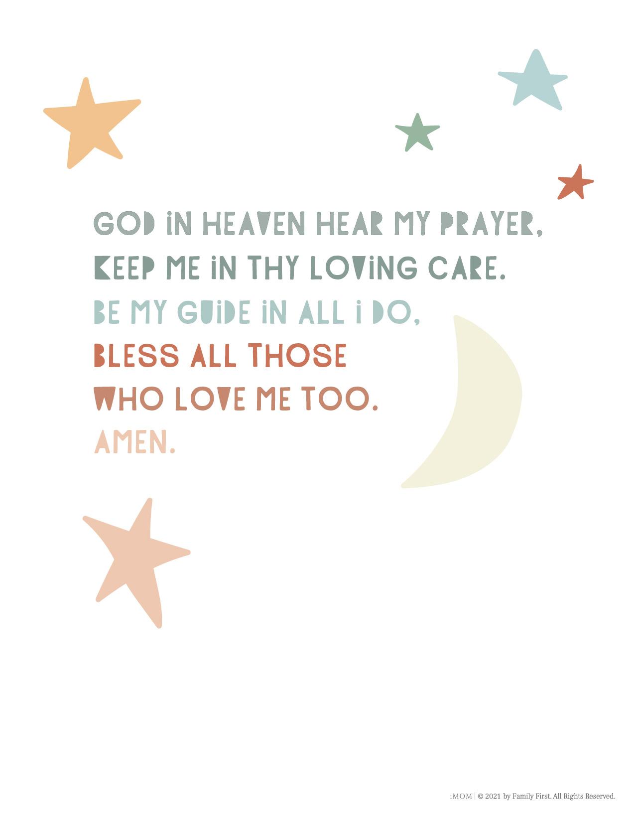 little kids prayer
