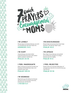 mom time prayers of encouragement