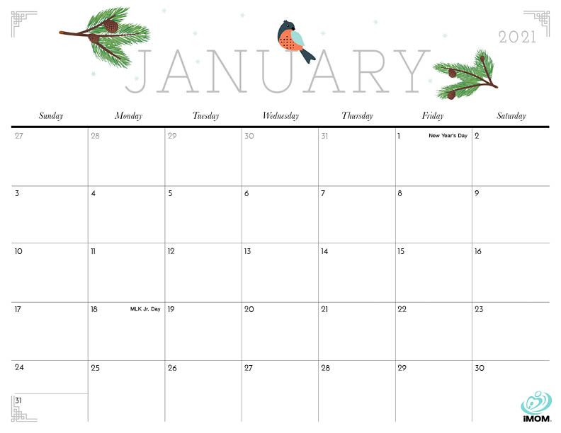 2020 and 2021 Cute Printable Calendars for Moms - iMom