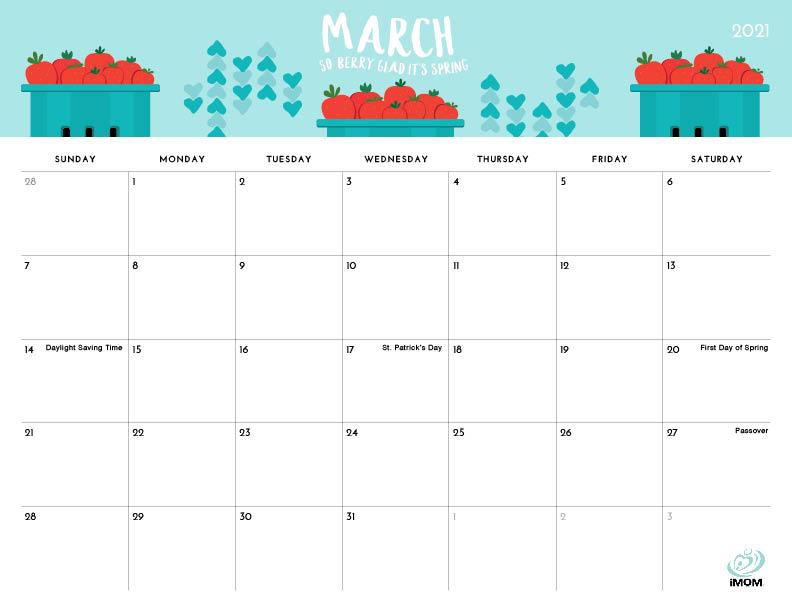 foodie printable calendar