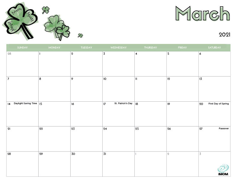 2020 and 2021 Printable Calendars for Kids - iMom