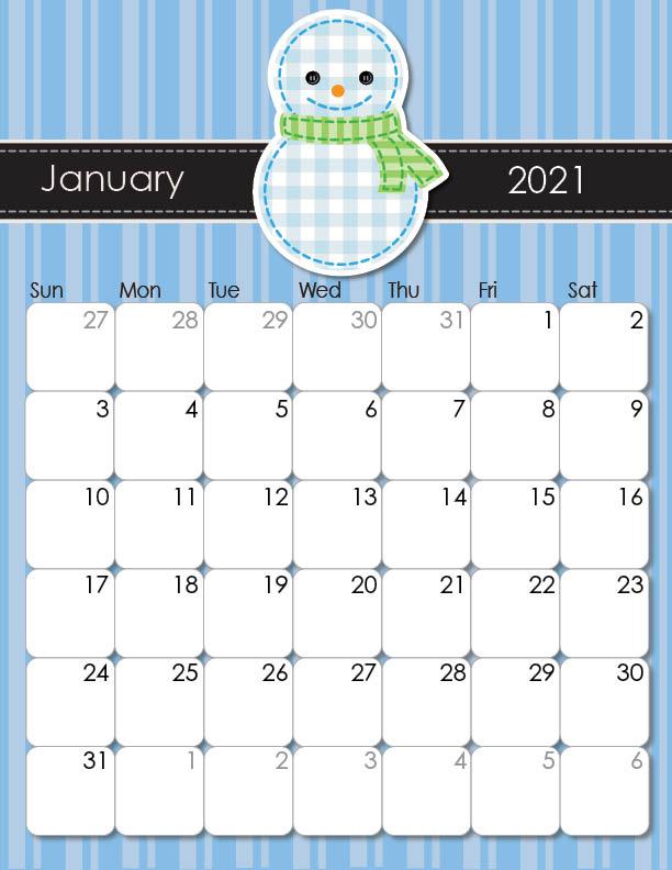 2020 and 2021 Whimsical Printable Calendars for Moms - iMom
