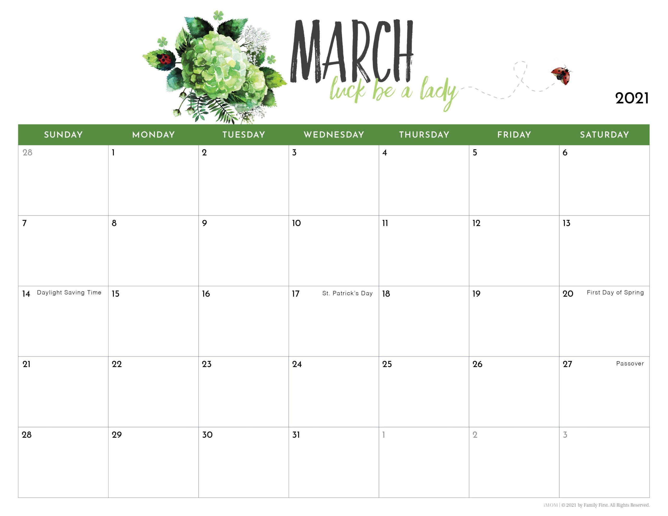 Imom 2022 Calendar.2021 Printable Calendars For Moms Imom