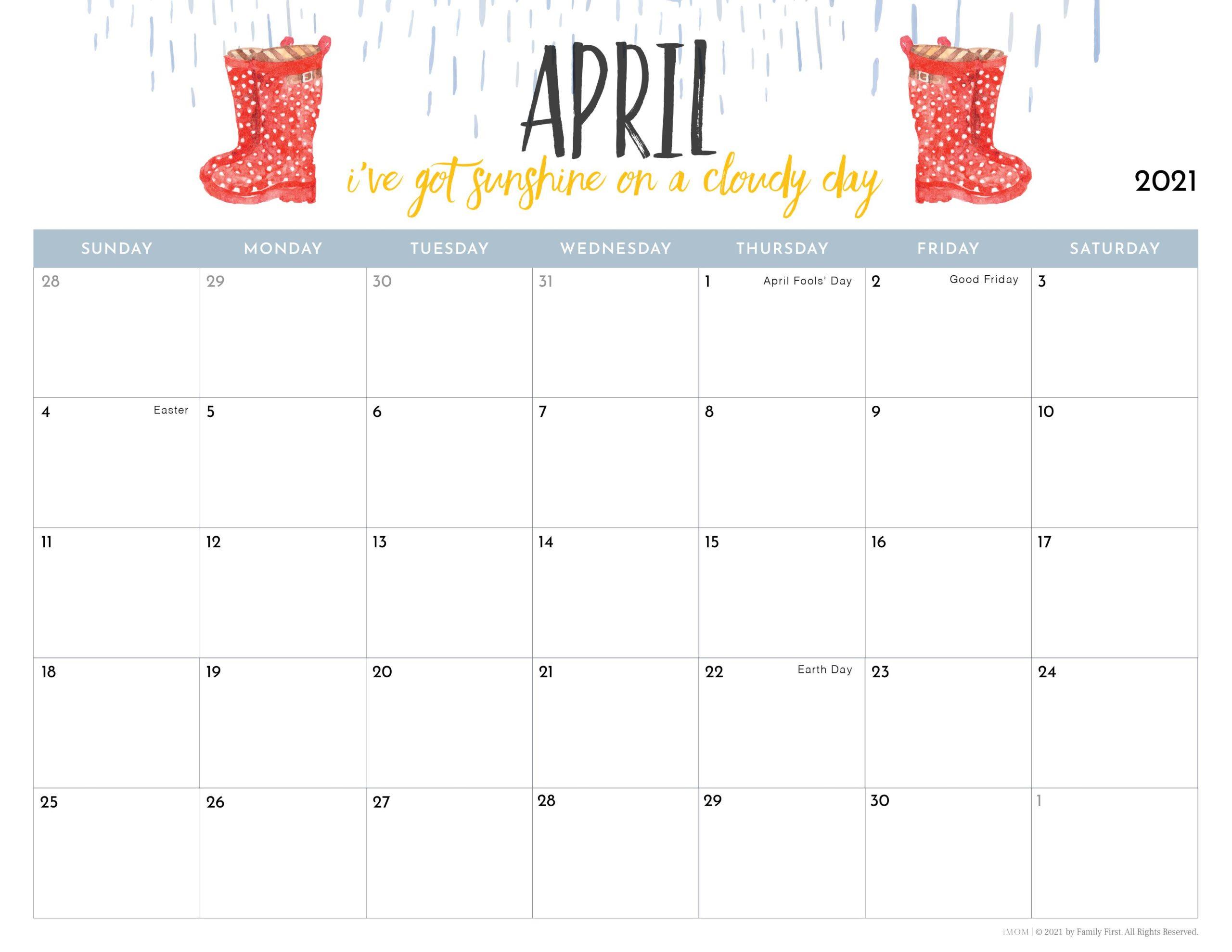 Imom Calendar 2022.2021 Printable Calendars For Moms Imom