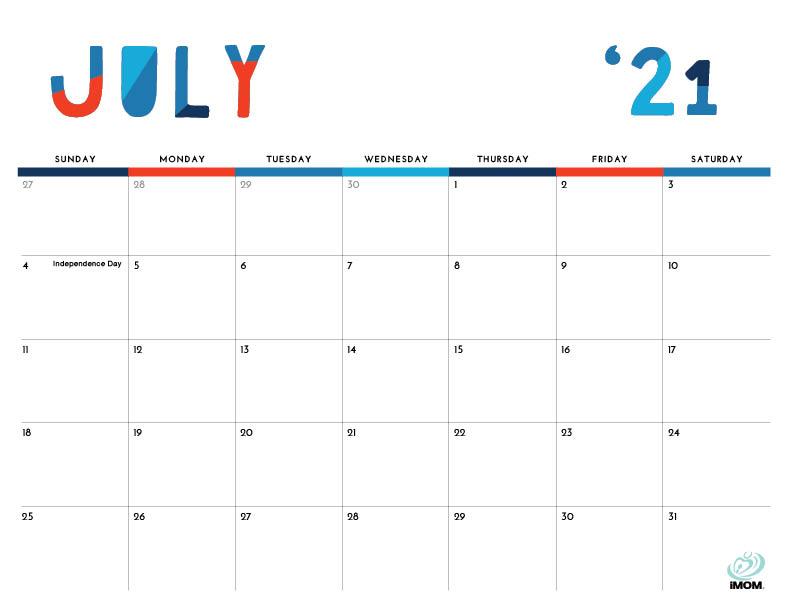 colorful printable calendar