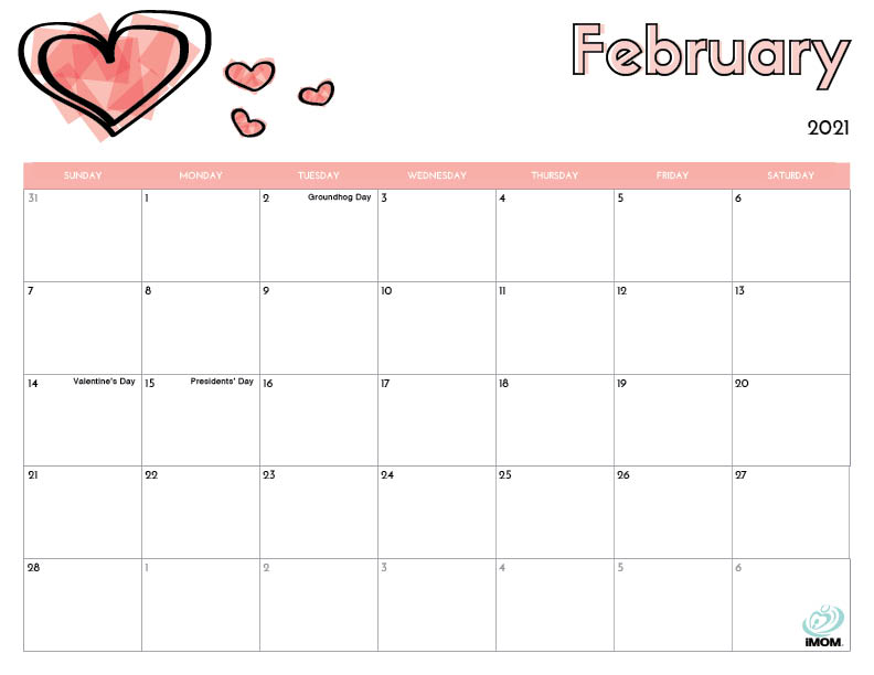 Printable Childrens Calendar 2021 2021 Printable Calendars for Kids   iMom