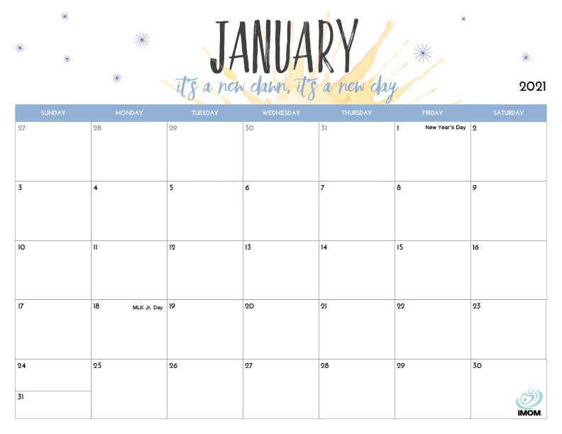 2021 Calendar Printables Pictures
