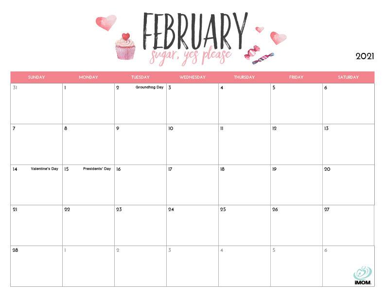 Images of 2021 Calendar Printable February
