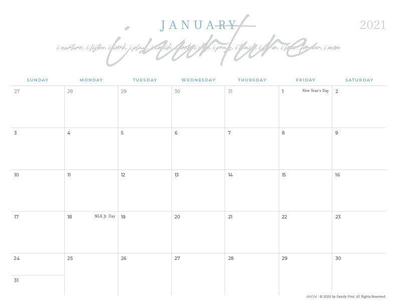 Pictures of Calendar 2021 Printable Cute