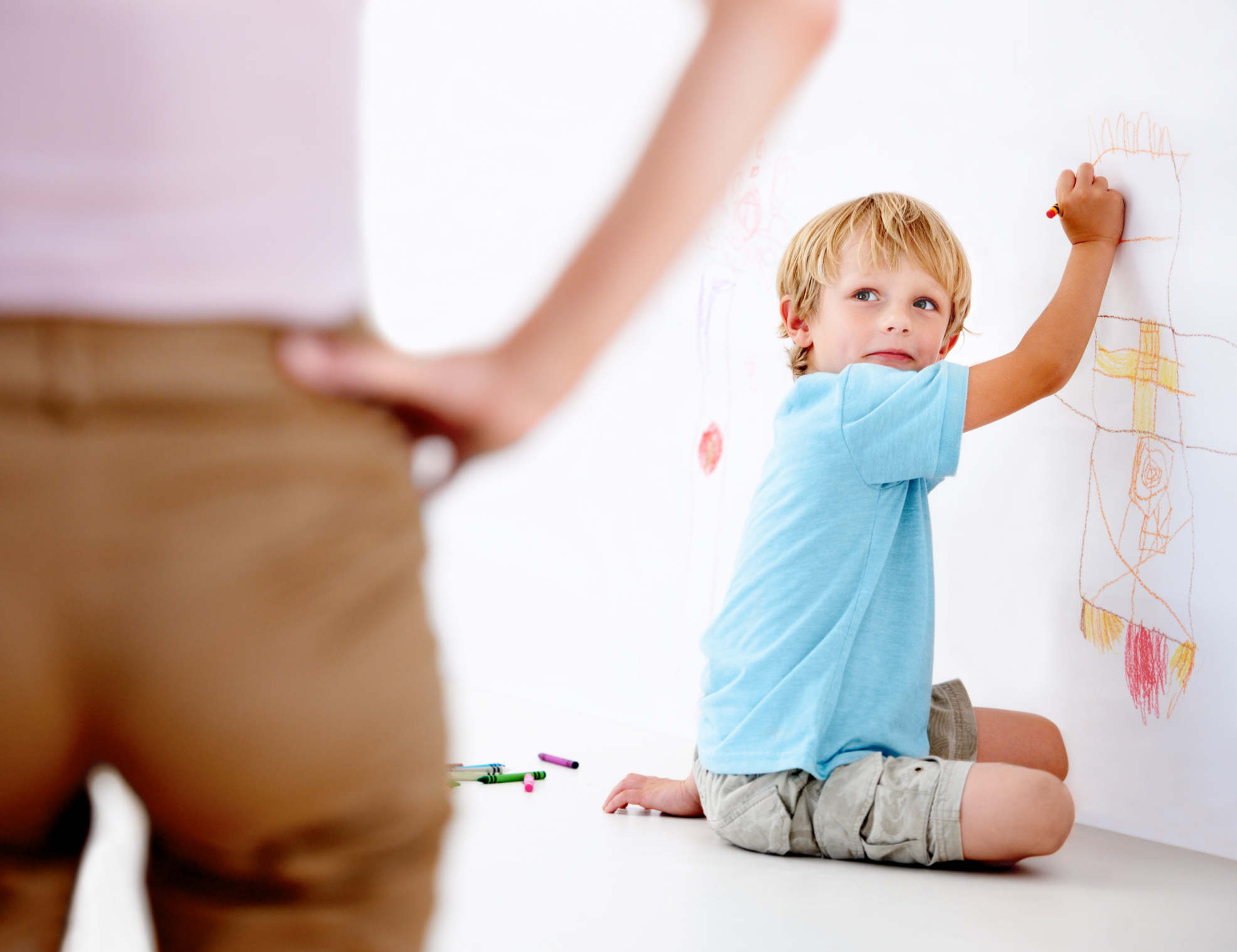 child acts differently with one parent