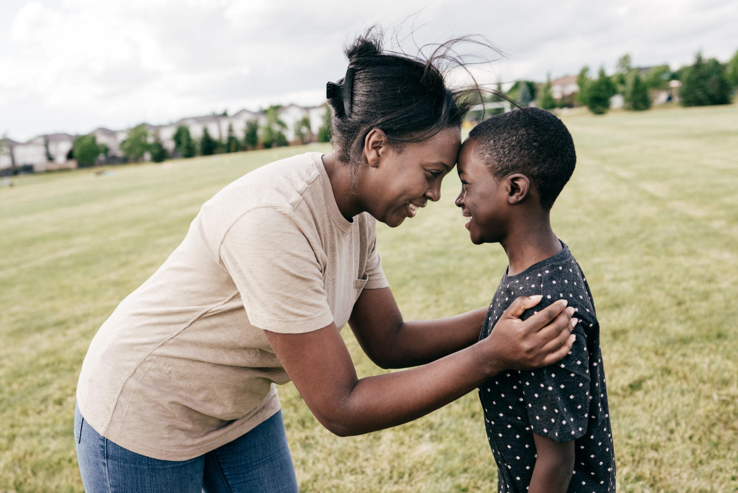 single mom raising son